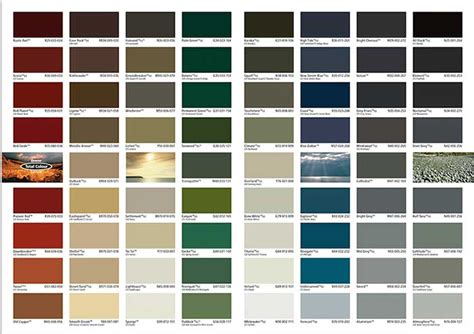 colour roof enhance roof coatings colour chart