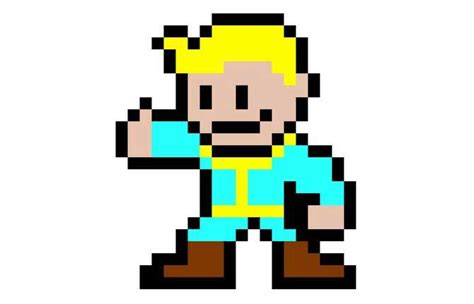 Pixels Papercraft - new paper craft pixel papercraft 2d vault boy free