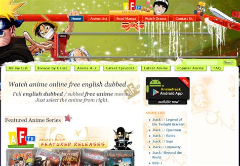 Animefreak T by 9 1 Best Anime To Anime