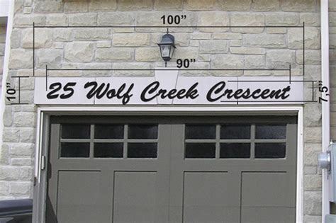 custom acrylic house numbers address letters in toronto