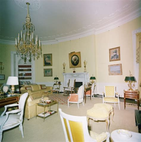 yellow oval room kn c29733 yellow oval room white house f kennedy presidential library museum