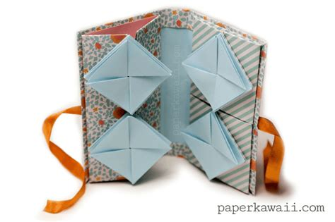 Origami Models To Make - origami thread book tutorial paper kawaii