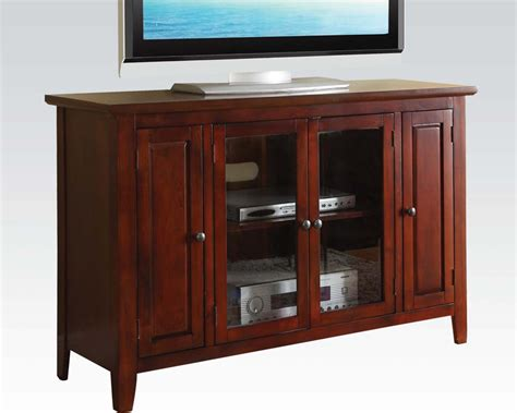 Stand Furniture Acme Furniture Tv Stand In Cherry By Acme Furniture Ac91008