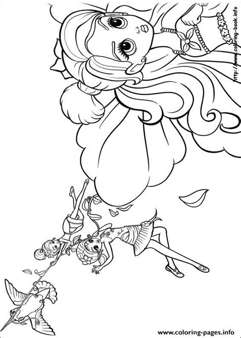 barbie thumbelina 15 coloring pages printable