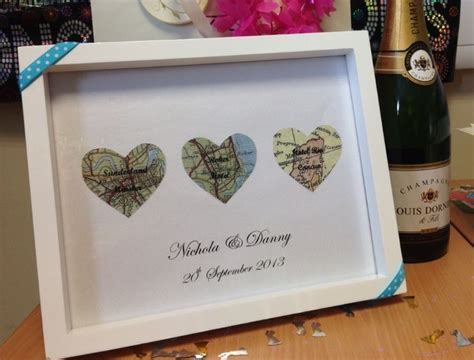 Handmade wedding gift. Church, reception, honeymoon. Heart