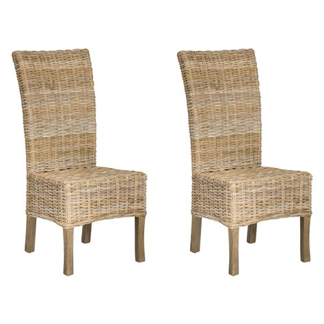 Wicker Dining Chairs by Safavieh Quaker Wicker Dining Side Chairs Set Of 2