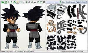 papermau dragon ball black goku paper model chibi style avshalom gil