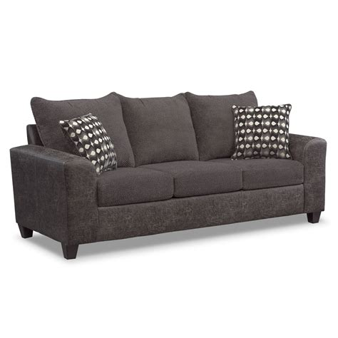 Sleeper Sofa With Memory Foam Brando Memory Foam Sleeper Sofa Smoke American Signature Furniture