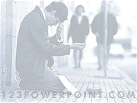 Royalty Free Poverty Powerpoint Background In Blue Poverty Powerpoint Template