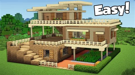 minecraft house building minecraft how to build a large starter house tutorial 2