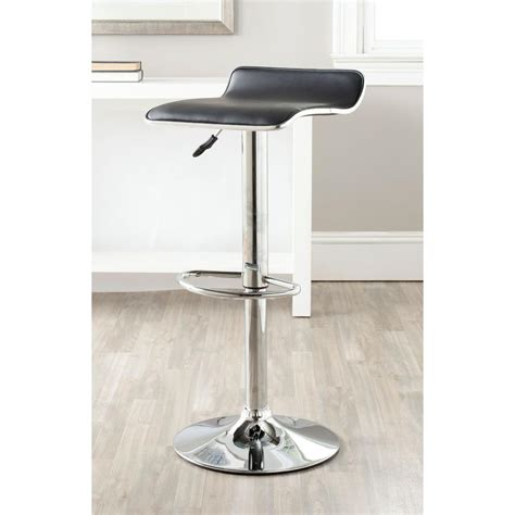 chrome swivel bar stools with back safavieh chaunda adjustable height chrome swivel cushioned