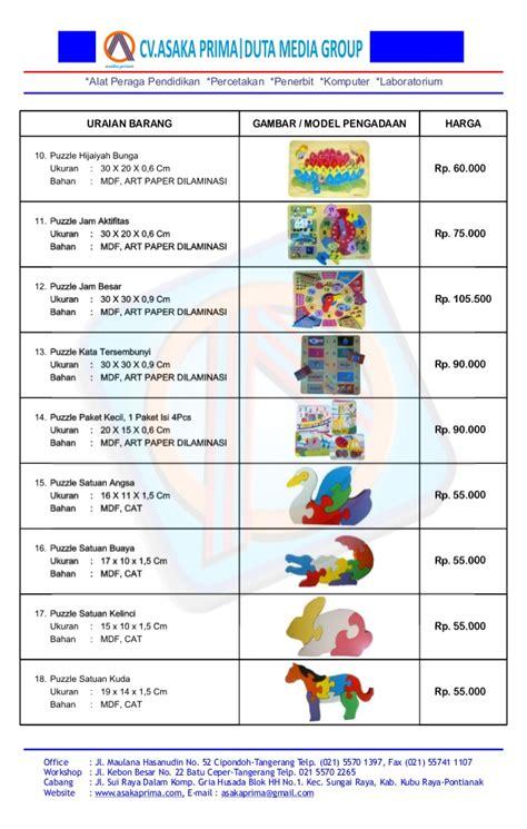 harga ape dalam daftar harga ape alat peraga edukatif tahun 2015