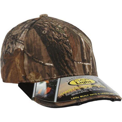 paramount hats paramount outdoors realtree camo 4 led light cap walmart