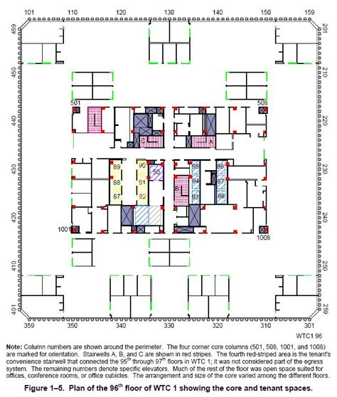 wtc floor plan world trade center floor structure 911encyclopedia