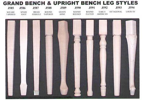 piano bench legs jansen bench leg styles
