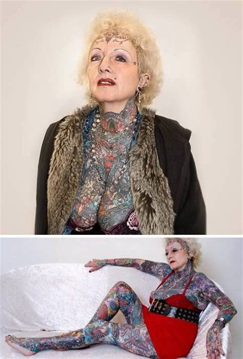 old tattooed lady 16 best seniors with tattoos images on tatoos