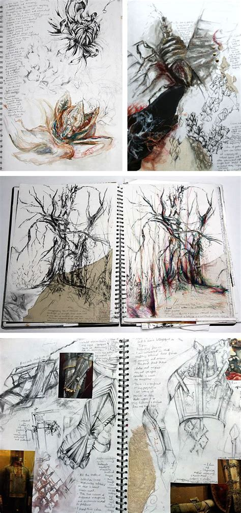 sketch book a level textiles beautiful sketchbook pages textiles