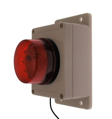 red and blue strobe buzzer red or blue flashing strobe assembly