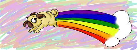 rainbow pug rainbow pug by sakintho on deviantart