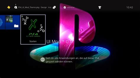 ps4 interface themes ps4 custom theme for ui mod alpha 0 17 by e treme youtube