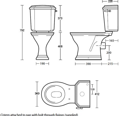 Disabled Baths And Showers imperial astoria deco black finish close coupled toilet