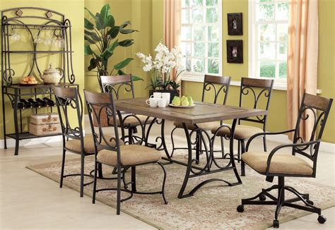 7pc dining room sets acme furniture kiele 7pc dining room set the classy home