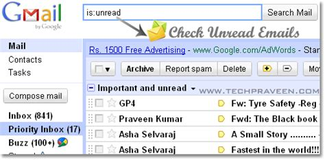 How To Search For Unread Emails In Gmail How To Filter Unread Email In Gmail
