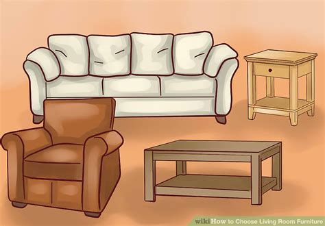 pieces of furniture how to choose living room furniture 15 steps with pictures