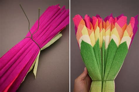 How To Make Mexican Flowers From Crepe Paper - diy crepe paper flowers