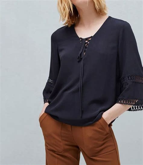 Black Blouse Sleeve Womens by New Womens Floral Lace Mix 3 4 Sleeve Blouse Tops