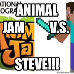 Animal Meme Generator - animal jam v s steve