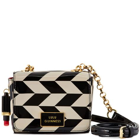 Chevron Print Embellished Bag From Accessorize by Lulu Guinness S Small Verity Chevron Print Patent