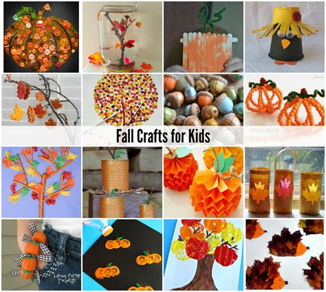 fall kid crafts popsicle stick fall tree crafts for lessons and
