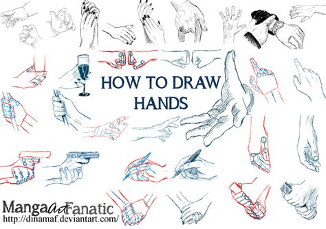 how to draw hands 35 tutorials how tos step by steps hand poses by dinamaf on deviantart