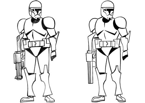 free coloring pages of star wars clone troopers