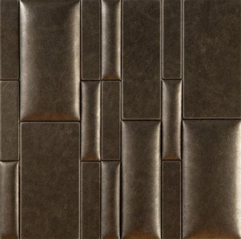 Leather Wall Tiles Nappatiles Faux Leather Wall Tile Finishes Pinterest