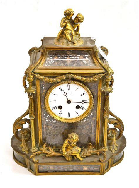 tennants auctioneers a gilt metal striking mantel clock
