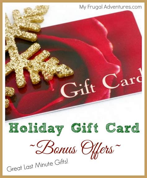 Holiday Gift Card Deals - chili s free 10 bonus card with 50 gift card purchase my frugal adventures