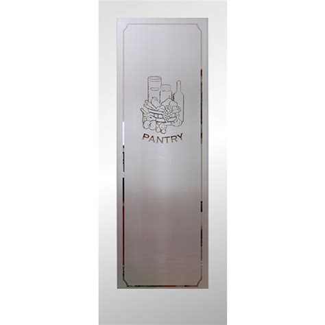 Pantry Doors With Glass Lowes Shop Reliabilt Primed 1 Panel Solid Etched Glass Wood Slab Door Common 24 In X 80 In