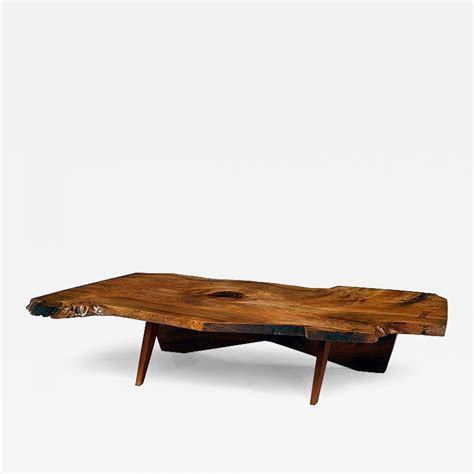 george nakashima coffee table george nakashima early large walnut coffee table by