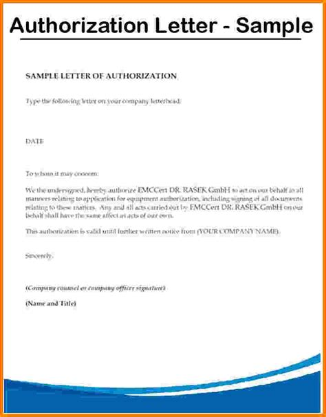 authorization letter to judge 9 letter of authorization sle card authorization 2017