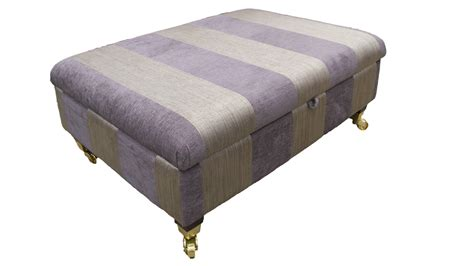 Gold Storage Ottoman Handmade Footstools Ottoman Footstools Finline Furniture