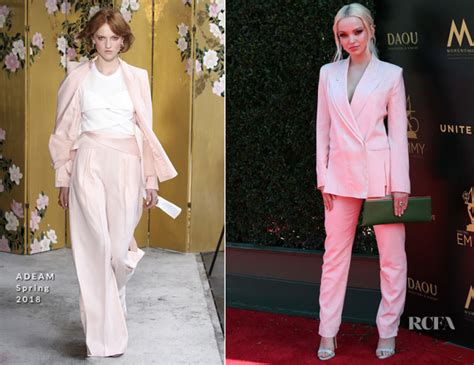 Catwalk To Carpet Emmy Awards by Dove Cameron In Adeam 2018 Daytime Creative Arts Emmy