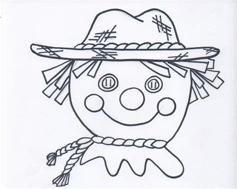 scarecrow coloring pages bestofcoloring com