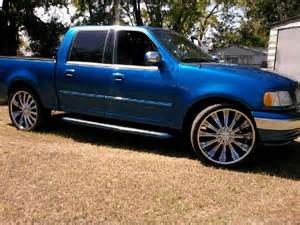 Ford F150 Truck Wheels For Sale F150 On 24 Inch Rims 2002 Ford F150 Supercrew Cab Quot Blue