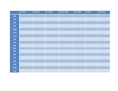 weekly timetable template microsoft word templates ms