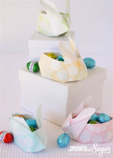 Origami Bunny Basket - origami bunny basket a spoonful of sugar