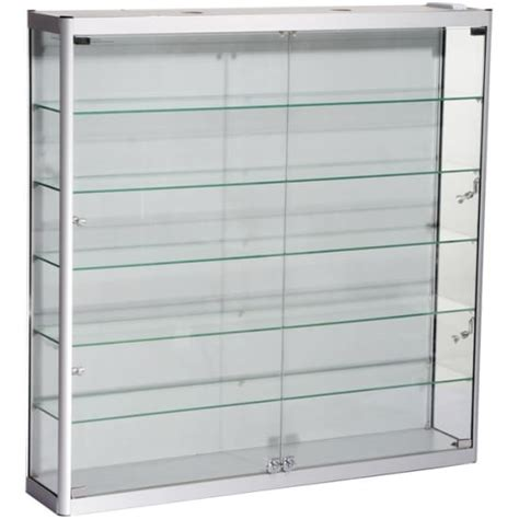 wall mounted display cabinets 1200mm w wall mount glass display cabinet led wm12