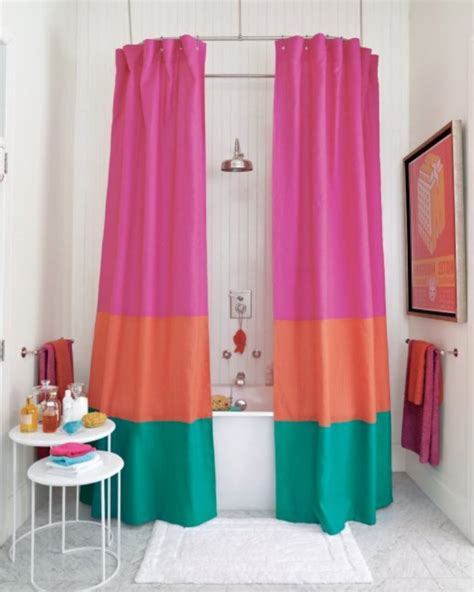 orange and turquoise curtains decidyn com page 101 modern bathroom with pink orange