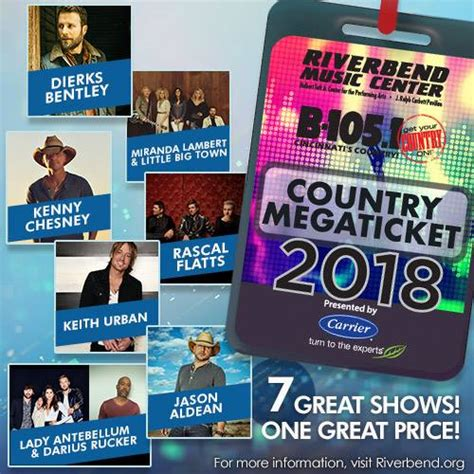russell dickerson riverbend just announced the 2018 b 105 country riverbend